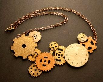 Steampunk Gears, Necklace