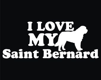 51 I Love My Saint Bernard T-shirt