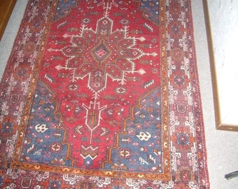 Authentique Tapis d'Orient, Perse, kilim, oushag, shiraz, laine noué main, antique vers 1930