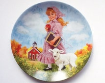 Limited Edition Collector's Plate by Reco, Mary had a Little Lamb, Signed by the Artist John Mc Clelland, 1985, 00028