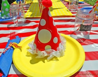 Carnival Party Supplies - 8+ Circus Party Table Setting with Carnival Hat