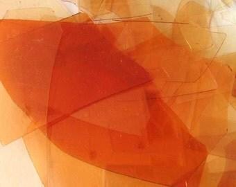 Cherry Red Reichenbach COE 96 Glass Shards 1 OZ R-141