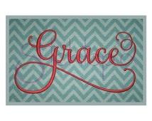 "Grace 1 Monogram Set - 2"", 3"", 4"" - Machine Embroidery Fonts Alphabets - Instant Download - Grace Embroidery Font 11 Formats BX PES DST"