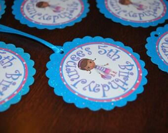 Made for You- Doc McStuffins Favor Bag Tags (set of 12)