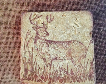 standing buck coasters set of 4