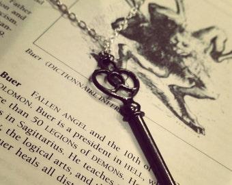 Gothic Skeleton Key Necklace