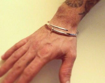 Bracelet Bangle Original nail. Sterling Silver.
