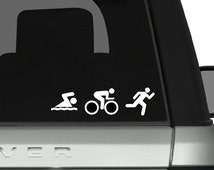 Swim, Bike, Run Decal | Triathlon Car Decal |Tri Decal