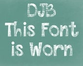 DJB This Font is Worn Font (Single User Commercial License)