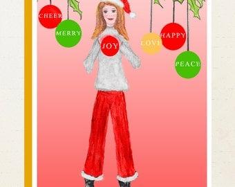 "Christmas Cards - Box Set of 8 - ""Joys of the Season"""