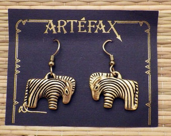 24K Gold Plated Zebra Earrings