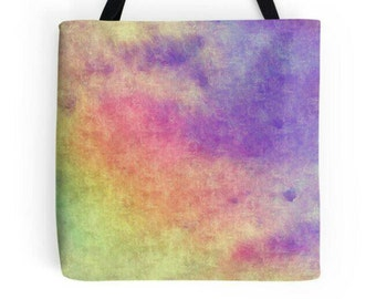 Multi Colored Bag, Purple Tote, Rainbow Bag, Colorful Bag