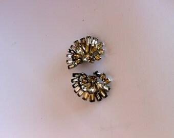 Vintage  Rhinestone Earrings