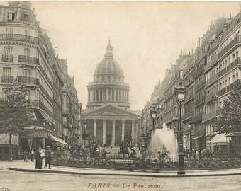 Paris - Le Pantheon, France,  circa 1910 Used Postcard