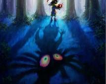 Zelda: Majora's Mask 3D Skull Kid - Poster 13x19