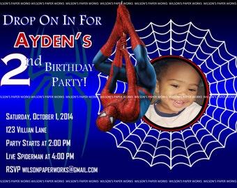 Spider Man Invitations Printable -  Customed