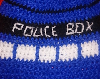 Doctor who inspired tardis slouchy beanie.