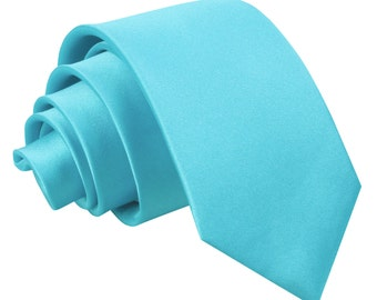Satin Robin's Egg Blue Boy's Tie