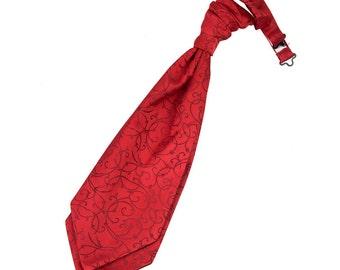 Swirl Burgundy Scrunchie Cravat