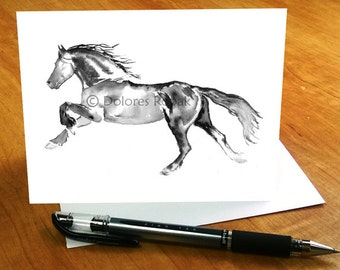 Horse stationary horse note cards horse lover gift horse horse note cards horse gifts horse stationery gift for horse lover running negle Images
