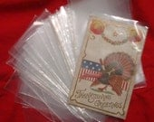Set of 50 Plastic Protective Postcard or photo Sleeves several sets available