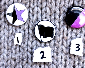 One Inch Anarchism // Anarchaqueer Pinback Buttons