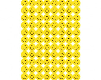 Yellow Smiley Face Stickers - Reference A1012