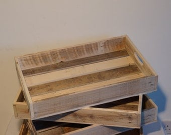 Reclaimed and upcycled pine garden/greenhouse potting tray