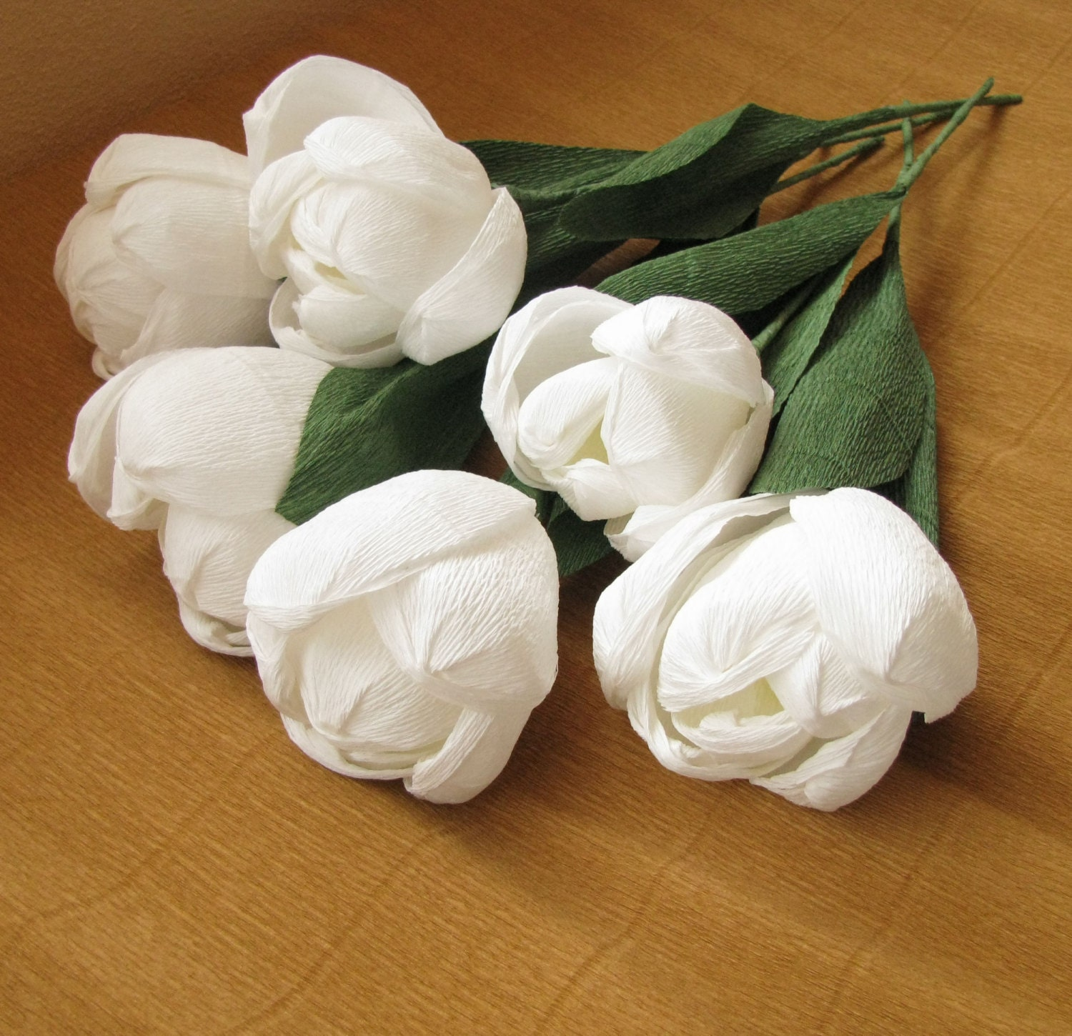 White large paper tulips crepe paper flowers wedding zoom dhlflorist Image collections