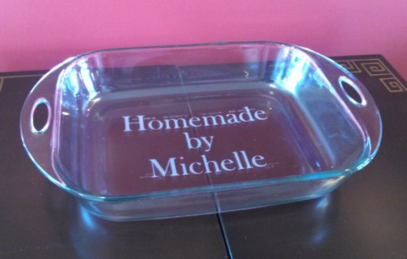 Etched Baking Dish Housewarming Gift Personalized By