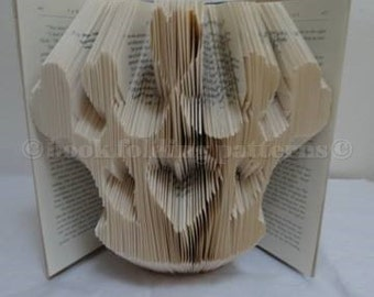 crown with hearts   book art