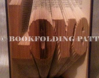 love book folding pattern