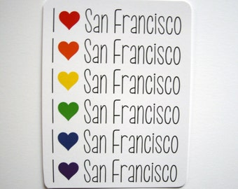 San Francisco Hearts  // Single Postcard