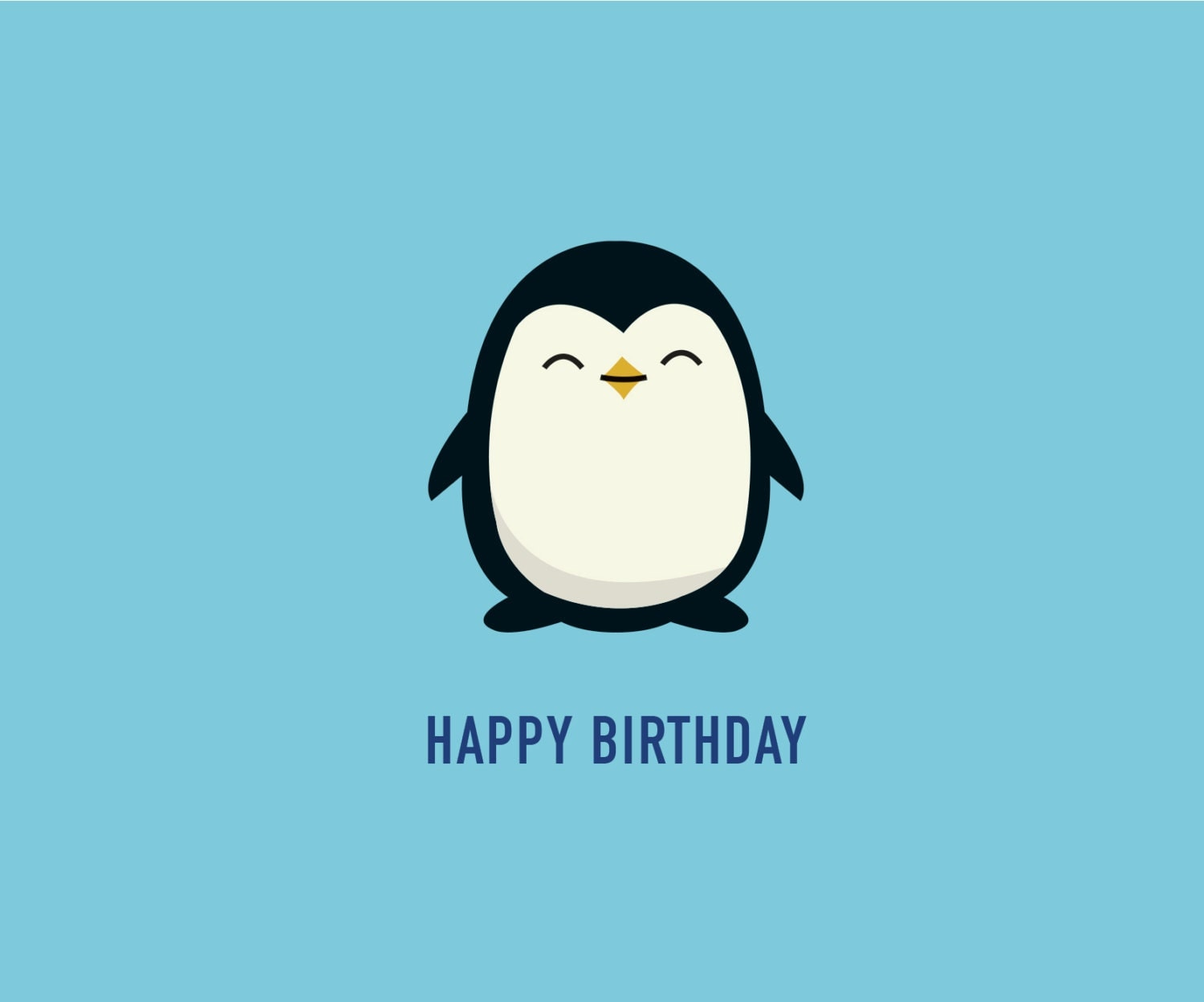 penguin birthday card birthday card funny card cute card, Birthday card