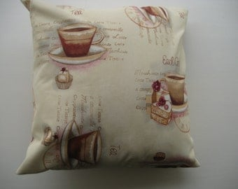 Coffee Time Cushion Cover