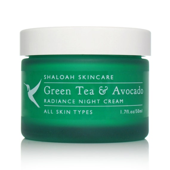 Green Tea & Avocado Nourishing Night Cream with Argan Oil, Coconut Oil, Elderberry extract, Shea Butter, Hemp, Radish Root, Vitamin E