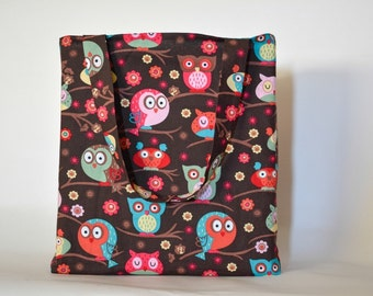 Quirky Owl Tote Bag