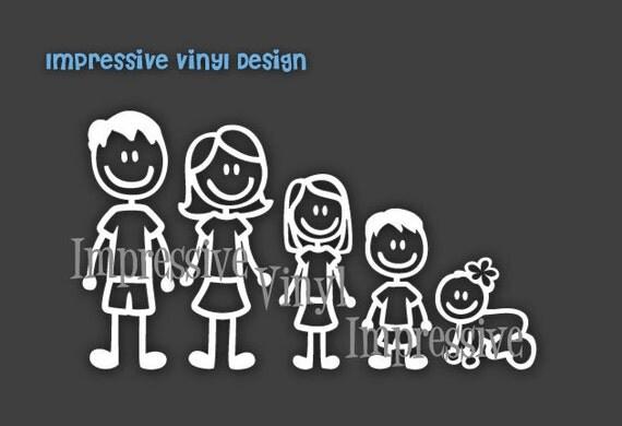 vinyle autocollant b ton de base famille personnalis. Black Bedroom Furniture Sets. Home Design Ideas