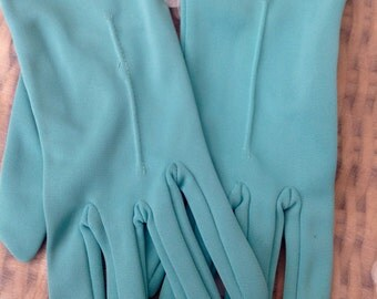 1950's green gloves