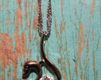 925 Sterling Silver Swan Necklace - Silver Swan - For Her - Swan - Gift