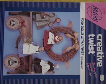 Creative Twist,Folk Dolls with A Twist,twisted paper craft booklet