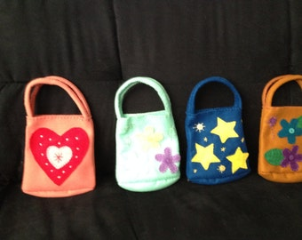 Small Felt Purses - Great for Young Girls or Decoration