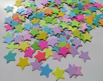 Set of 320 Multicolored Star Confetti