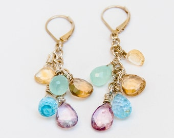 Sterling briolette drop earrings