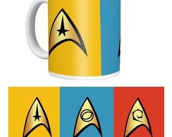 Star Trek Badges Mug. Retro.