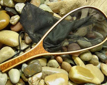 Leopardwood Trout Landing Net Exotic Wood - Yellowstone