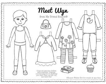 Printable Paper Doll-Wyn by My Friend Ronnie®
