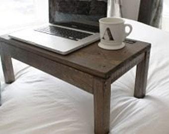Wooden lap desk flip top opens for storage bed desk - Wood lap desk with storage ...
