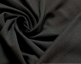 Fabric polyester Jersey black Softshell breathable windproof Thermo-dry