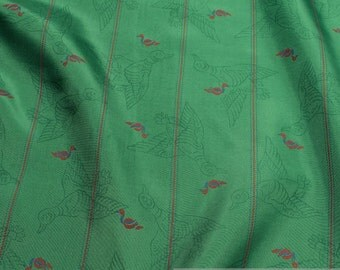 Fabric rayon taffeta green little duck interlining lining viscose